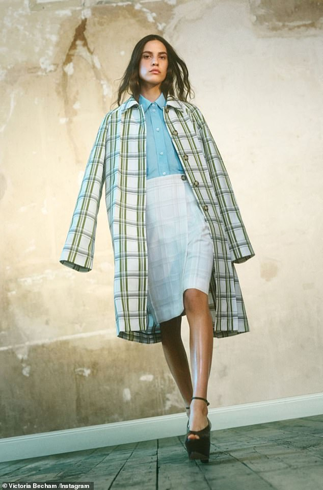 LOOK Victoria also filled her Instagram feed with shots of the new collection, which includes a mix of silk dresses, tailored coats and chic trousers.