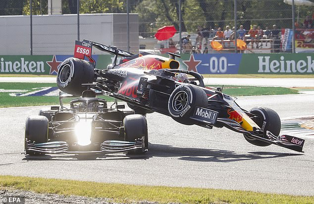 Lewis Hamilton has been accused of overreacting after a crash with Max Verstappen in Italy