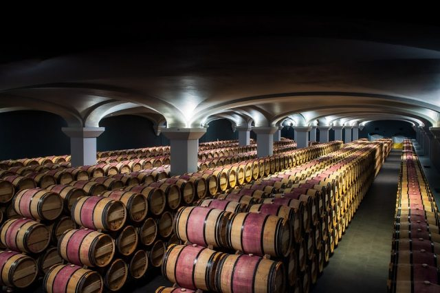 Chateau Margaux (pictured) in Bordeaux, France, was named the world's third-best vineyard