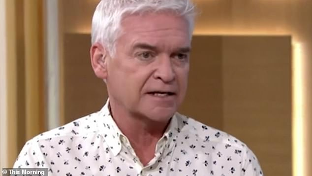 'Frightened': Although Philip was quick to point out that 'we've been like this forever' and also revealed that his daughter was 'scared' to go outside after coughing