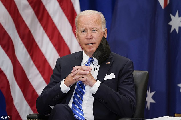 President Joe Biden did not answer questions from reporters on the French anger