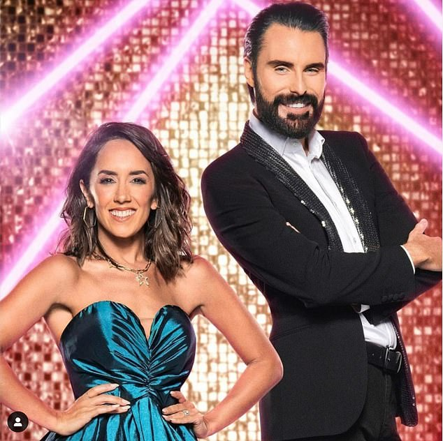 it takes two!  Rylan Clarke (right) and Janet Manara (left) are seen together for the first time as they prepare to present Strictly Come Dancing's It Take Two next week.