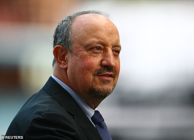 Rafa Benitez (above) informs James at the start of the campaign that he is not in his plans