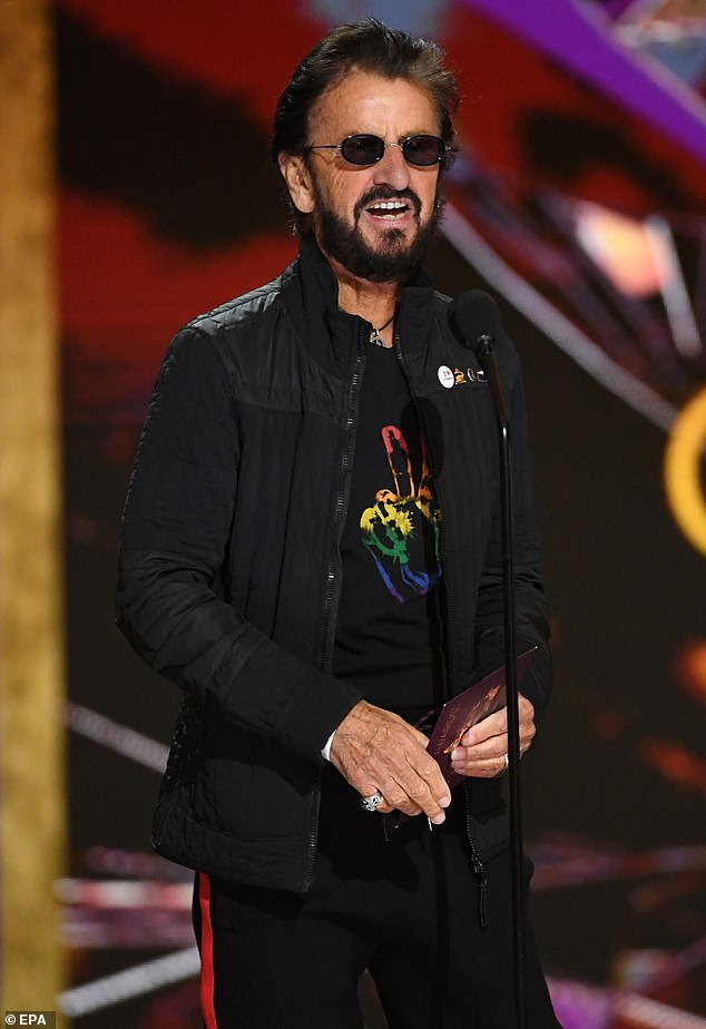 Hitmaker: Ringo's new EP is set to release this Friday and was recorded at Ringo's Roccabella West studio, where he joins his A-list musical pals during the lockdown.