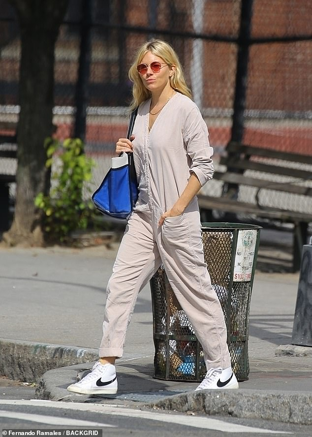 Outside: Sienna Miller, 39, took a break from her busy schedule as she was seen walking around New York City on Wednesday