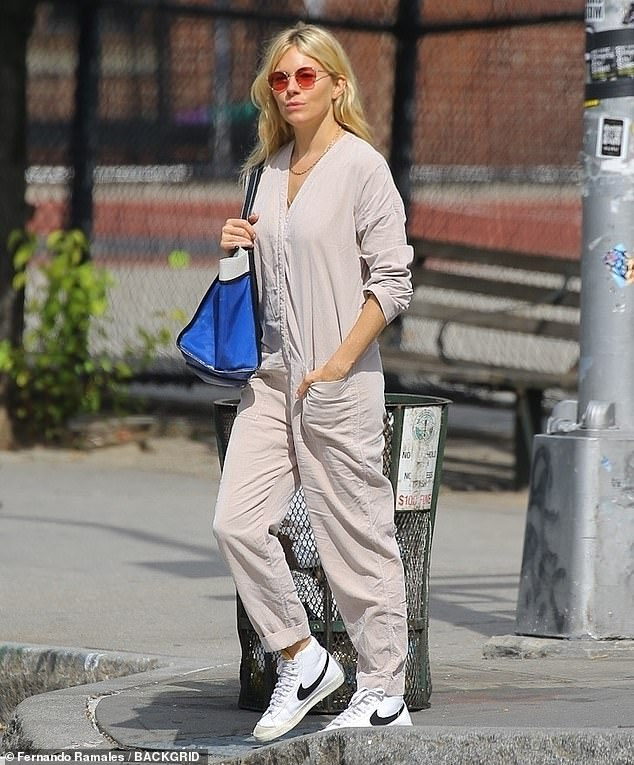 Take a Break: After being seen filming a new project in New York City, Sienna took a break from her latest role to enjoy a walk in the sun