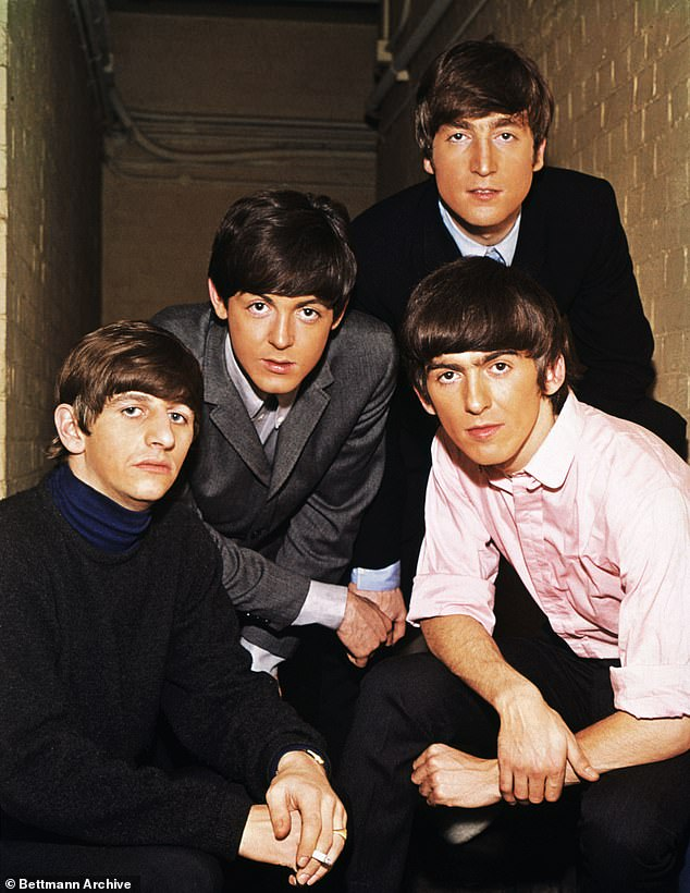 Revealed: The three-part series will show the 'emotional ups and downs' of the band's final years, including unseen footage from their famous rooftop performance in 1969 (pictured in 1965 with Paul McCartney, John Lennon and George Harrison)