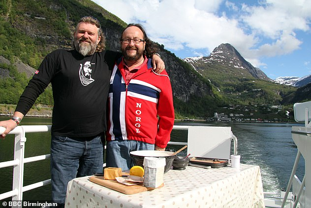 The dynamic duo: C, who is returning to the screen with partner Dave Myers for their new series The Hairy Bikers Go North, first met Michelle while filming their Down Under series