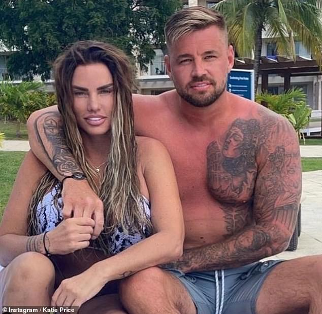 Taking a break: Katie Price has fled Turkey to 'clear her head' with her fiancé Carl Woods after an Essex property was allegedly attacked last month (pictured on vacation)