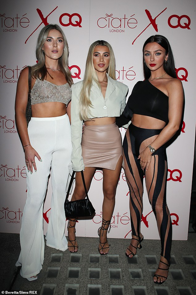 Girls' Night Out: A friend wearing a glitter crop top with Joanna and her co-star Cady McDermott wore a really daring pair of leggings.