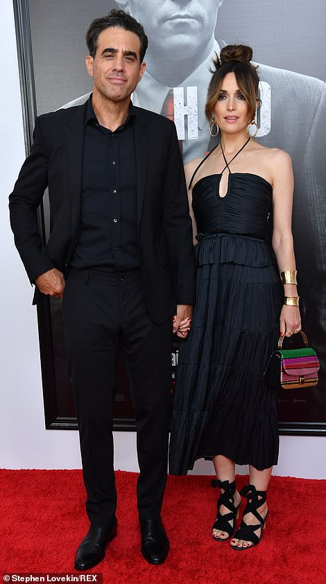 Big night: Rose Byrne and her beau Bobby Cannavale lead stars at the premiere ofThe Many Saints of Newark in New York City on Wednesday night