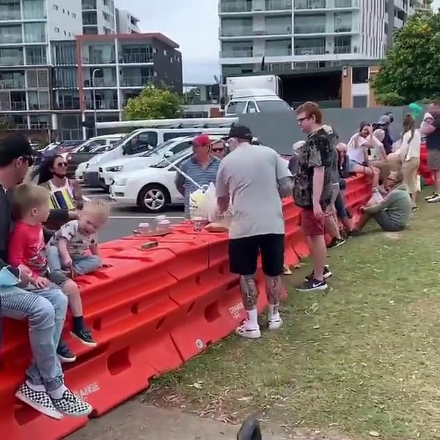 Ms Palaszczuk defended her decision to maintain strict border controls because of the current Delta outbreaks in NSW and Victoria - which forced families to meet up on Father's Day this year at the border (pictured)