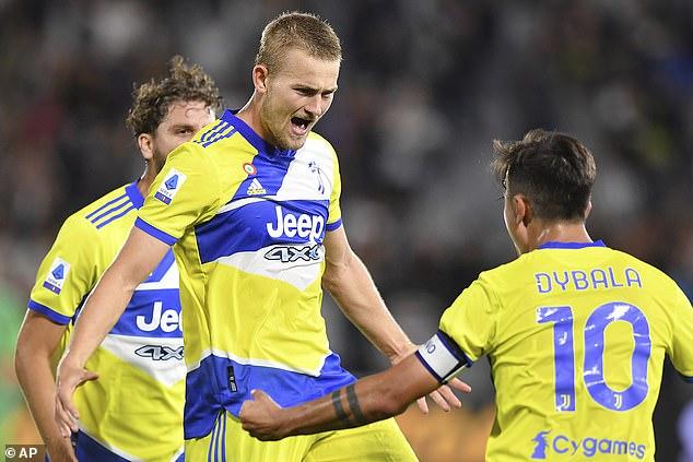 Dutch defender De Ligt registered his 3-2 win for Juventus in Spezia on Wednesday night
