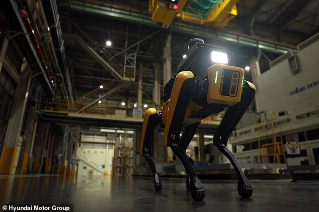 The 'Factory Safety Service Robot' has been upgraded with applied artificial intelligence, autonomous navigation and various remote sensing technologies