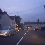 Heart-stopping moment driver narrowly misses car as he skids across junction 💥👩💥
