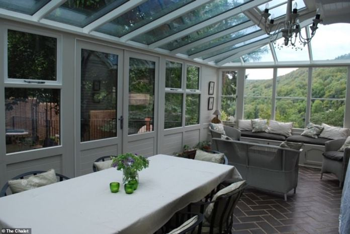 How the Glass Conservatory, which makes the most of Herefordshire's most beautiful setting, looked before it was given an upmarket makeover