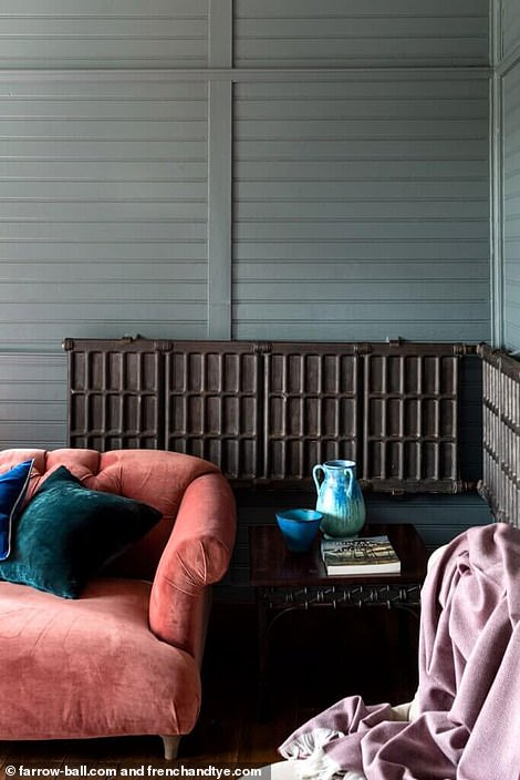 The wooden interiors of The Chalet, which was built in 1912 and built in Norway before being shipped to Herefordshire