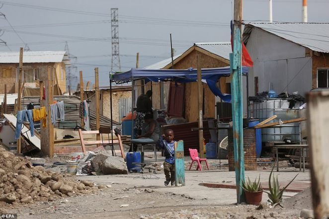 This is one of the Haitian refugees camps in Santiago, Chile, where many of the 15,000 migrants camping under a bridge in Texas were living before setting off to the US border