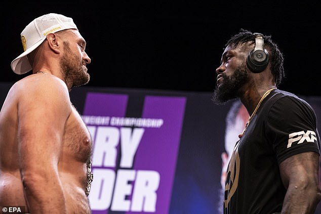 Fury will have to face Deontay Wilder (right) before he can think of a mega-fight with his rival