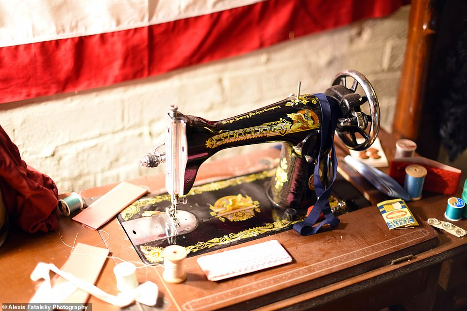 If you know, you know: There is also avintage Singer sewing machine like the one used by Buffalo Bill in the film