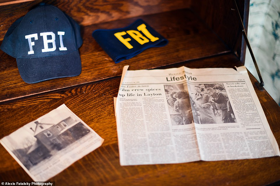 Plenty to see: There are news clippings and FBI fear on display, a nod to Starling