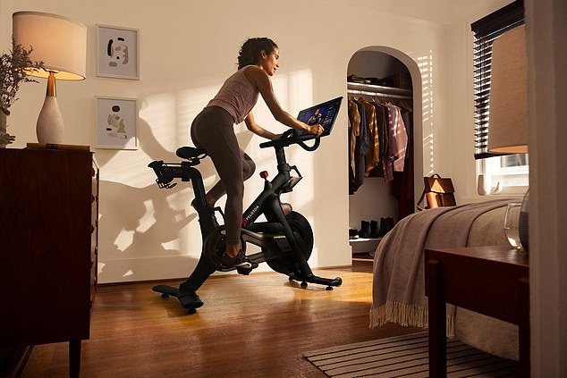 Ms Healey hailed the opportunity to use her exercise bike at home, while saving time on commuting (stock picture)