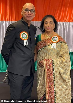 Queensland Multicultural Council President Umesh Chandra (left)