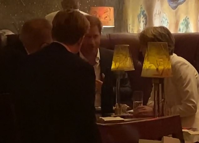 Prince Harry was spotted in the swanky NYC bar without Meghan around 5:30pm Thursday