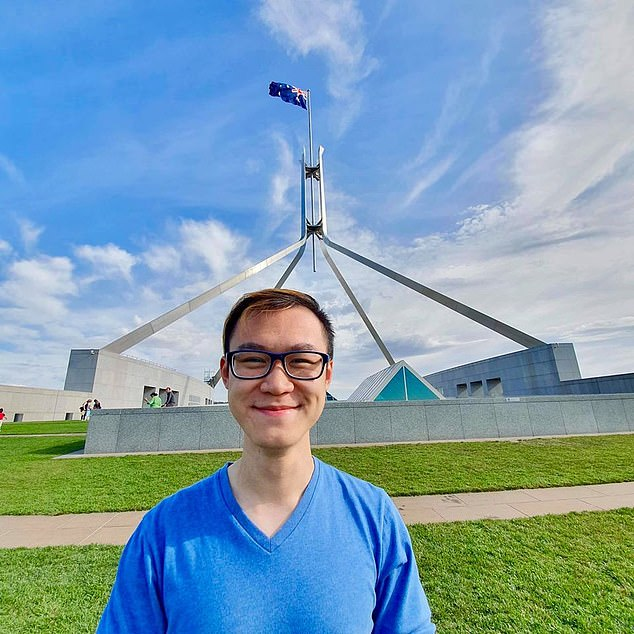 The body of 21-year-old George Yuhan Lin (pictured) was found in Sydney's CBD in the early hour of February 12, 2020