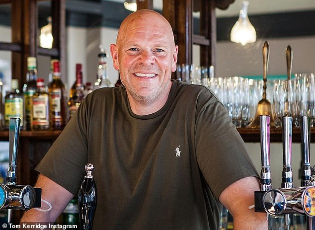 Tom Kerridge (pictured above), 48,is launching a new menu which includes the £12.50 fee for cooking meat on his grill at The Butchers Tap and Grill in Marlow, Buckinghamshire, tonight