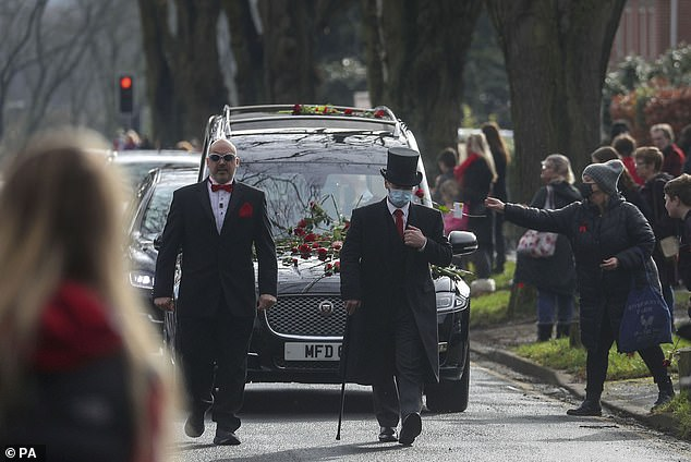 The funeral of Olly Stephens in Reading earlier this year.Bike-mad Olly, who had autism, was 'ambushed' at Bugs Bottom field in Emmer Green on the afternoon of Sunday January 3 after he had apparently sought to defend another boy who was being humiliated in a group chat