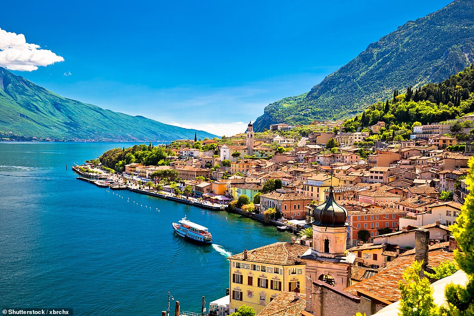 Invigorating: Limone on Lake Garda, where Mark Porter spends the final night of his 'lakeside odyssey'