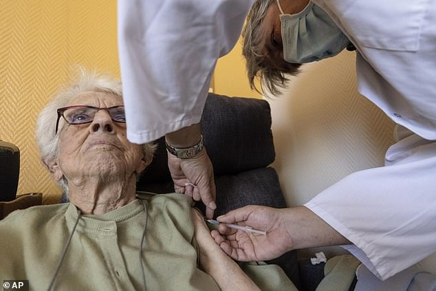 DailyMail.com has provided a breakdown of who is eligible for boosters, when they can get them, and why a CDC panel initially rejected boosters for specific groups.  Image: An elderly woman receives a COVID-19 Pfizer booster on 24 September