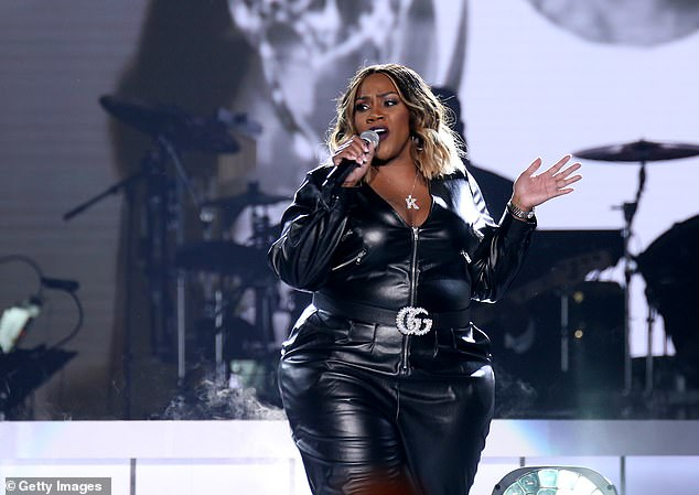 Price began her career in 1998 and grew as an R&B and gospel singer. She's pictured performing at the Soul Train Awards in Las Vegas, Nevada, in 2019