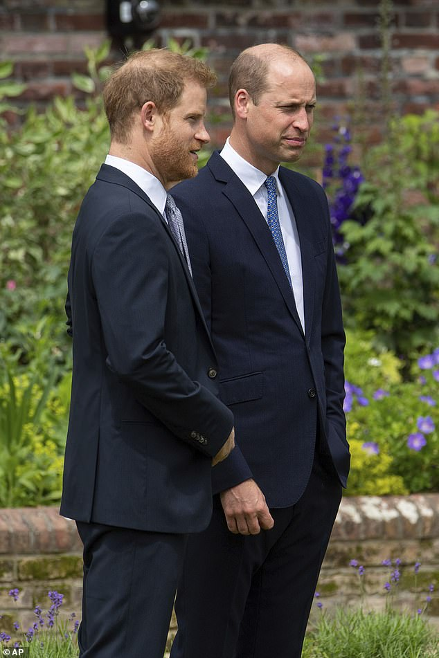 William put on a brave face as he unveiled the statue of their mother at Kensington Palace earlier this year, but he hardly spoke to Harry, who had given that explosive interview to Oprah Winfrey with Meghan