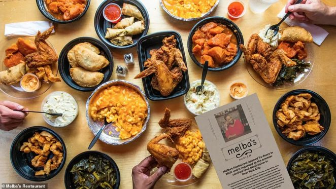 Melba's is famed for its southern cooking including fried chicken & waffles and collard greens
