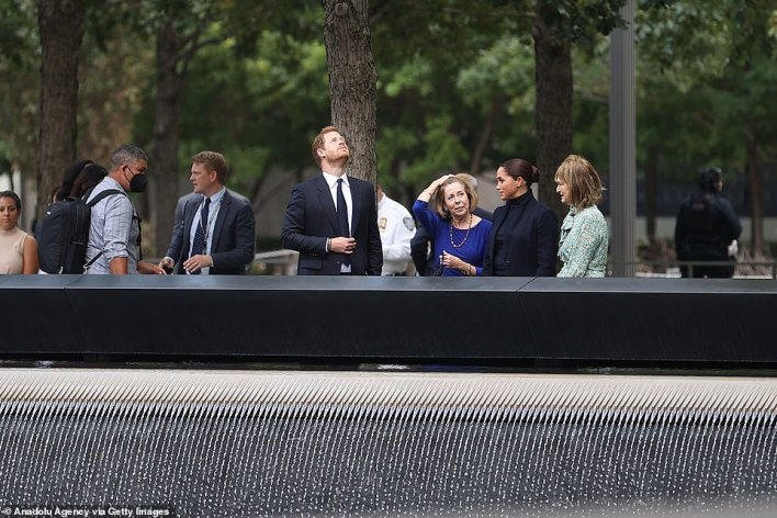 The couple took a tour of the 9/11 Memorial and Museum, joined by National September 11 Memorial & Museum President Alice Greenwald and Patricia Harris, CEO of Bloomberg Philanthropy Thursday