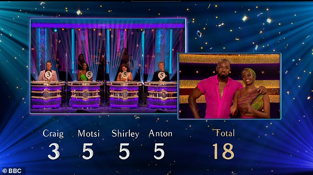 Scoreboard: Although Yugo scored only 18 out of 40, he certainly impressed judge Shirley Ballas with his moves