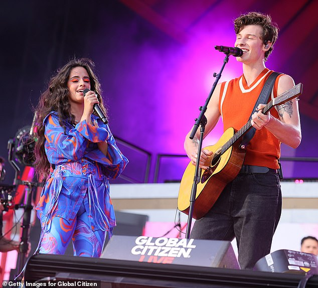 The Likes: Camila Cabello, 24, and Shawn Mendes, 23, made their romance part of the show on Saturday at Global Citizen Live in New York City amid a performance of their number one hit Senorita.