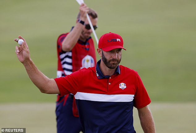Dustin Johnson finished with five points after winning all of his five matches over the weekend
