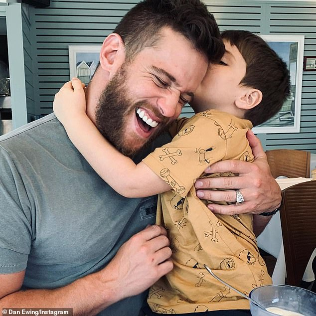 Tension: The actor, 36, who shares custody of son Archie (pictured) with Marni, was involved in an altercation with David in 2018 when he was dropping off his little boy. He had expected to see Marni at the handover but David was there instead, which pushed him over the edge because he was already upset having learned Archie, seven, was calling his stepfather 'dad'