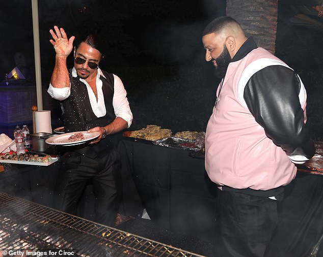 Nusrat Gokse is pictured with DJ Khaled at his birthday party in 2017.  There are tons of celeb fans, including Salt Bay's Sean Diddy Combs, Fergie and Meghan Trainor.