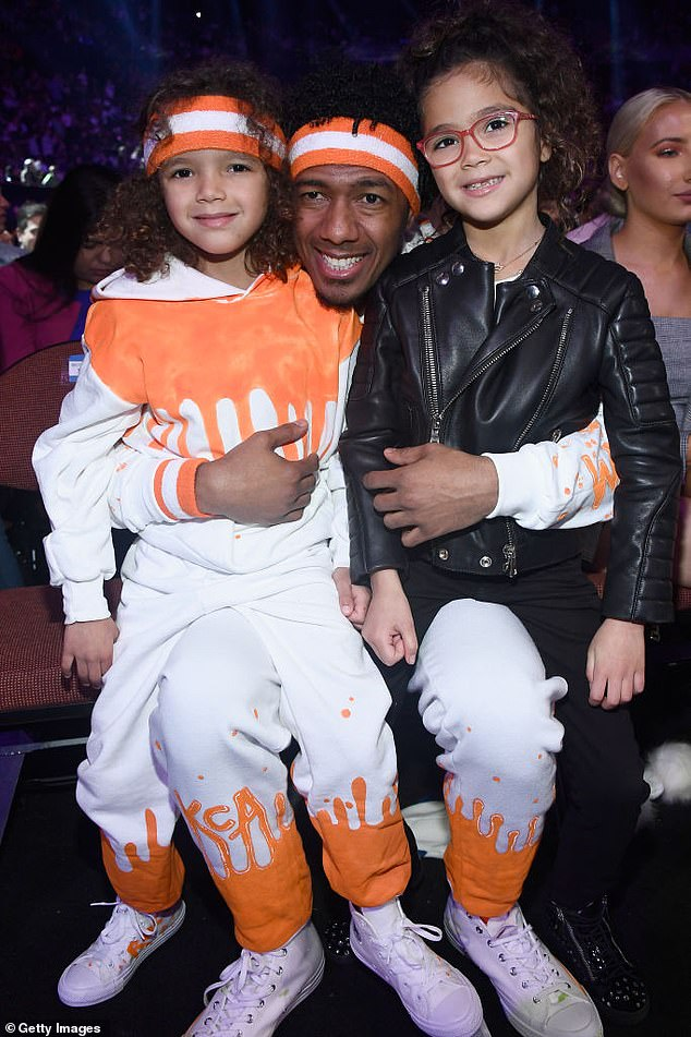 Adorable: Nick also shares twins Moroccan and Monroe, 10, with his ex-wife and superstar singer Mariah Carey, after an eight-year marriage that ended in 2016 (pictured in 2018)