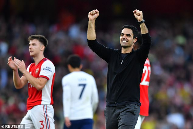 Mikel Arteta's (right) Arsenal beat Spurs 3-1 in one of this week's key Premier League results