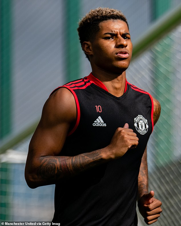 Marcus Rashford (above) had surgery in August for a long-standing shoulder problem