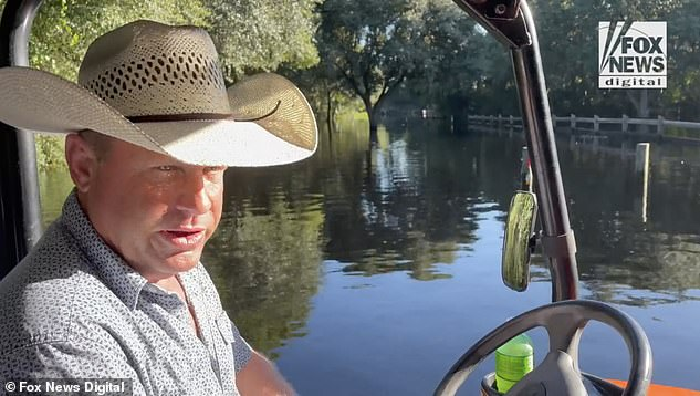 Florida cattle rancher Alan McEwen (pictured), who lives outside the Carlton Reserve (pictured), has spent 30 years exploring the area and said it's not somewhere humans can easily live