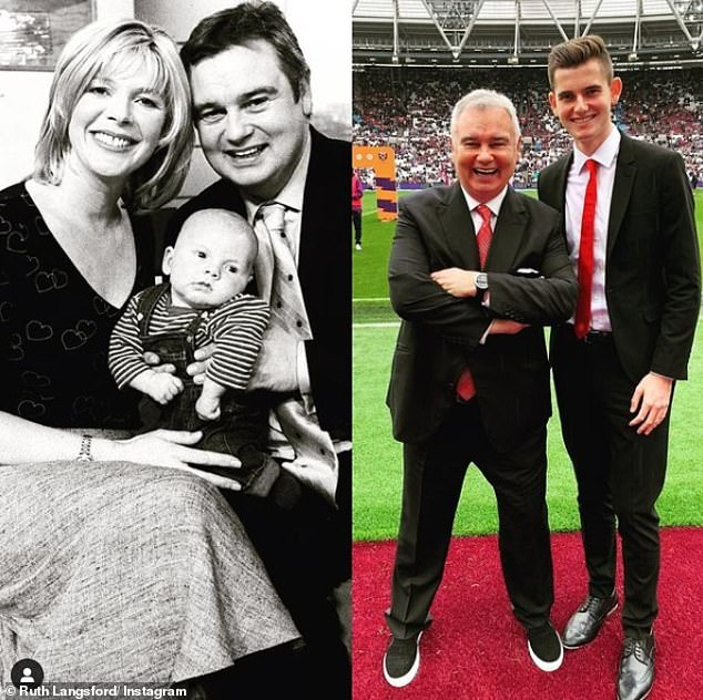 Ruth shares 19-year-old Jack with TV presenter husband Amon Holmes, adding: 'I talk to Jack (pictured) about consent.  They say talk to your kids but it is very difficult...'