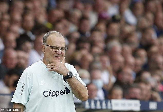 Marcelo Bielsa (left) may be regretting not signing a back-up for the injured Patrick Bamford