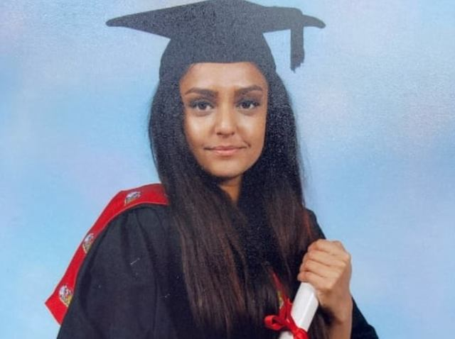 Sabina Nessa, 28, originally from Bedfordshire.Ms Nessa was killed as she walked through Cator Park in Kidbrooke, south-east London, on her way to meet a friend on September 17