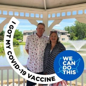 Cal Dunham (left) celebrated getting the jab in a May Facebook post. It's not clear how long immunity to the coronavirus lasts once you've been fully inoculated against it.